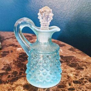 FENTON  Vintage Opalescent Hobnail Cruet